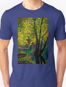 Fluorescence streams through Great Meadows Unisex T-Shirt