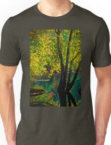 Fluorescence streams through Great Meadows Unisex T-Shirt