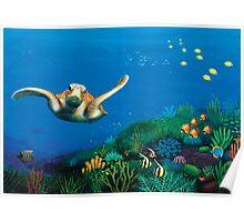 Turtle Reef Treasure Poster