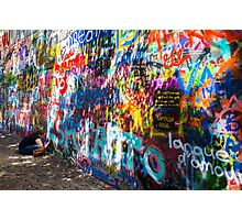 Writing on John Lennon's wall Photographic Print