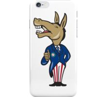 Democrat Donkey Mascot Thumbs Up Cartoon iPhone Case/Skin