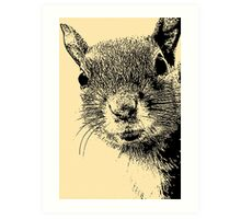 Squirrel Lithograph Art Print