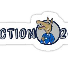Election 2016 Democrat Donkey Mascot Cartoon Sticker