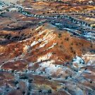 Hill and Dry Rivers I - Outback Abstract by Jeff Catford