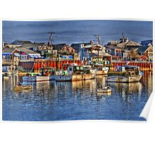 Lobster Boats in Perkins Cove Poster