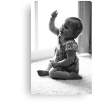 Look what I've got, Daddy! Canvas Print