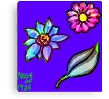 Sticker Sheets by Neon-Galactic Fractal Flowers Canvas Print