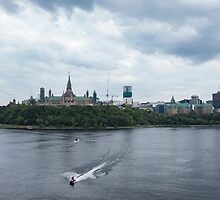 Boating on the Ottawa river by Josef Pittner