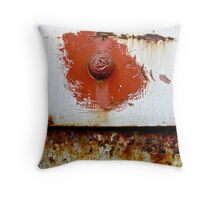 Rust Bloom Throw Pillow