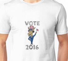 Vote 2016 Democrat Donkey Mascot Flag Cartoon Unisex T-Shirt
