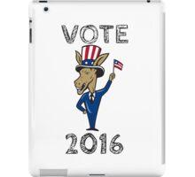 Vote 2016 Democrat Donkey Mascot Flag Cartoon iPad Case/Skin