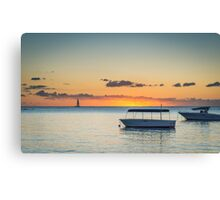 Calm waters around Mauritius Canvas Print