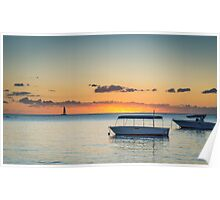 Calm waters around Mauritius Poster