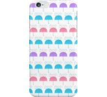 Umbrellas and Drops iPhone Case/Skin