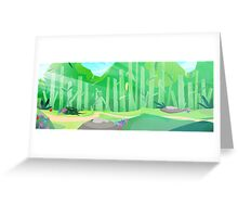 green hills with forest view Greeting Card