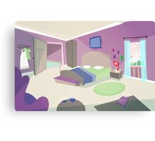 The bedroom '50s cartoon style Canvas Print