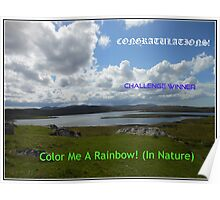 Color Me A Rainbow - Challenge Winner Banner Poster