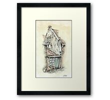 OLD DUTCH PICTURE - AQUAREL AND CONTE Framed Print