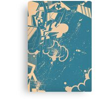 abstract graffiti sketch Canvas Print