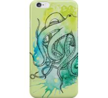 Chartreuse Octopus  iPhone Case/Skin