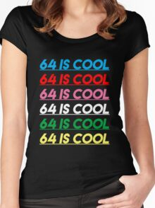 64 is Cool - Color Women's Fitted Scoop T-Shirt