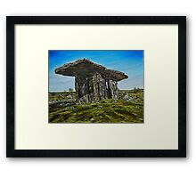 Poulnabrone Dolmen, The Burren, County Clare - oil painting Framed Print