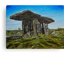 Poulnabrone Dolmen, The Burren, County Clare - oil painting Canvas Print