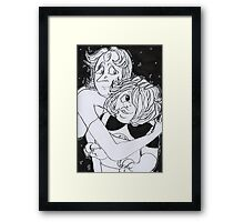 Ame and Pearl Framed Print