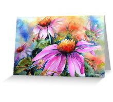 Sunset Coneflowers Greeting Card
