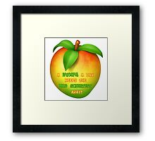 A wumpa a day keeps the mad scientist away Framed Print