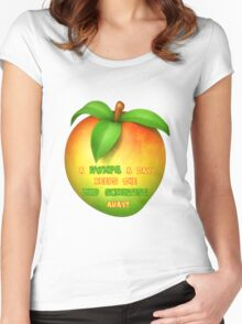 A wumpa a day keeps the mad scientist away Women's Fitted Scoop T-Shirt