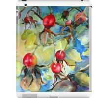 Ruby Red Rose Hips iPad Case/Skin