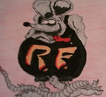my version of Rat Fink by Dennis Mouser