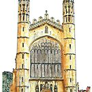 Hand Painted Cambridge Colleges by Ian Bracey