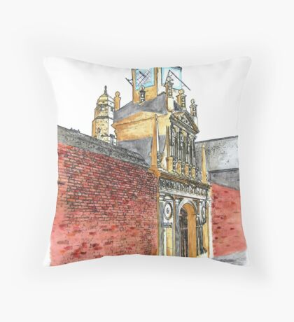 The Gate of Honour, Caius College, Cambridge Throw Pillow