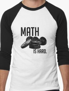 Math is Hard Men's Baseball ¾ T-Shirt