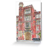 Porters Lodge at Selwyn College, Cambridge Greeting Card