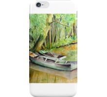Monet's Garden Boat iPhone Case/Skin