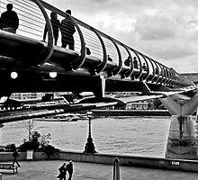 Millennium Bridge Crossing by RIDGEWORKS