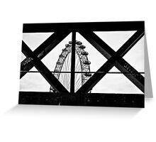 London Eye X + O Greeting Card