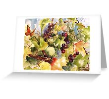Monarch in the Vineyard Greeting Card
