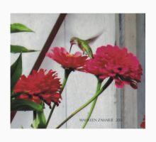 Hemingway Hummingbird in Mo's Garden 4 T-Shirt