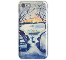 Winter Magnolia Sunrise iPhone Case/Skin