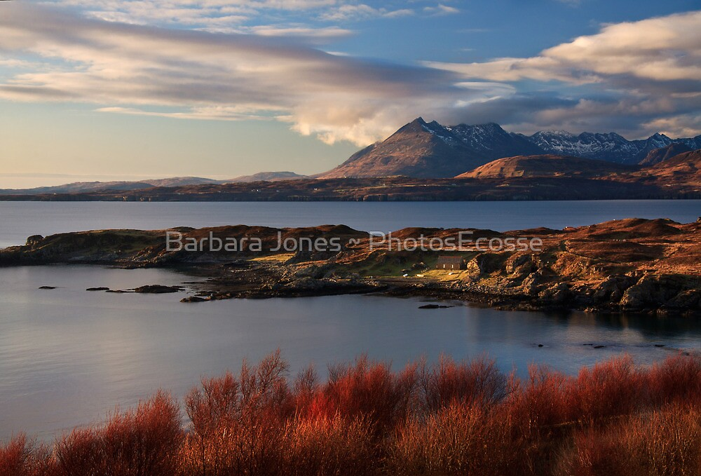 Cuillin Mountains from Tarskavaig, Isle of Skye, Scotland. by PhotosEcosse
