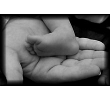 His Whole World In His Hands Photographic Print