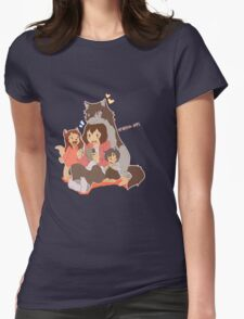 Wolf Family Womens Fitted T-Shirt