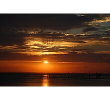 A Birthday Sunset on Mobile Bay.... Photographic Print