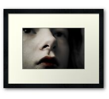 Blood Stained Lips Framed Print