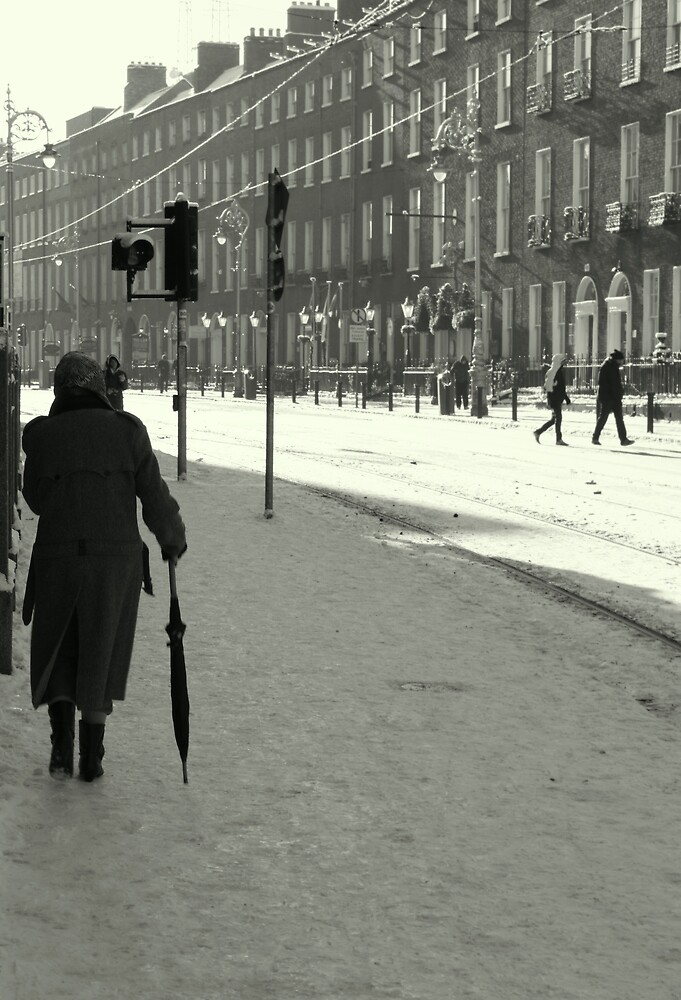 Harcourt Street with snow by Esther  Moliné
