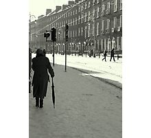 Harcourt Street with snow Photographic Print